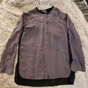 Beautiful 100% silk Vince blouse size 8